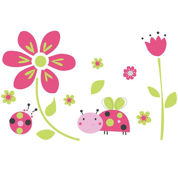 Belle Lil' Ladybug Wall Decals (Set of 4)