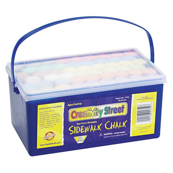 Creativity Street Sidewalk Chalk, 4 x1 Dia. Jumbo Stick, 12 Assorted Colors, 52 Pieces/Each Case