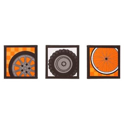 One Grace Place Teyo's Tires 3-Piece Canvas Art