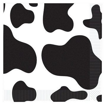 Beistle 58130 Cow Print Luncheon Napkins - Pack of 12
