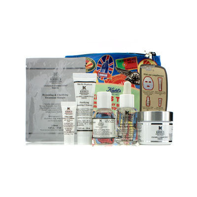 Kiehl's Clearly Corrective White Set: Clarifying Cream + Toner + Cleanser + Masque