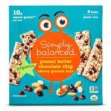6.8 Ounce Simply Balanced Peanut Butter Granola Bars