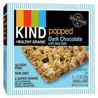 Kind Healthy Snacks Kind Popped Dark Chocolate with Sea Salt Granola Bars - 5 Count