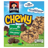 Quaker® Chewy Girl Scouts Granola Bars Thin Mints Flavor