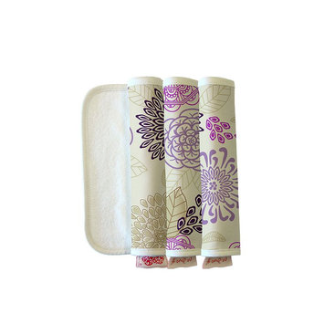 The Peanut Shell Dahlia Burpeas Burp Cloth (Set of 3)