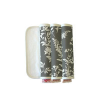 The Peanut Shell Burpeas Burp Cloth in Whisper (Set of 3)