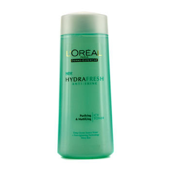 L'Oréal Dermo-Expertise Hydrafresh Anti-Shine Purifying & Mattifying Icy Toner (For Shiny Skin) 200ml/6.7oz
