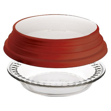 Anchor Hocking Anchor 9.5 in Deep Pie Plate Fluted with Lid
