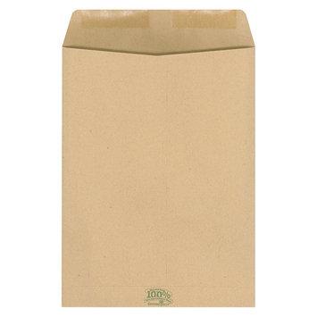 Ampad 100% Recycled Paper Catalog Envelope, Side Seam, 9 x 12, Kraft, 110/Box