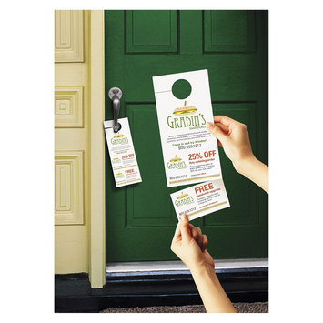 Avery Door Hanger with Tear-Away Cards - White