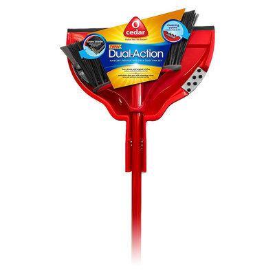 O'Cedar Dual-Action Angler Indoor Broom And Dustpan Set (139979)