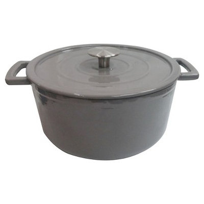 Threshold Cast Iron Dutch Oven - Grey (6 qt)
