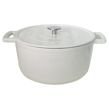 Threshold Cast Iron Dutch Oven - White (6 qt)
