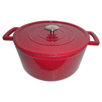 Threshold Cast Iron Dutch Oven - Red (3 qt)