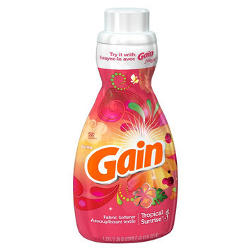 Gain liq. Fabric Softener Tropical Sunrise 41floz/52ld