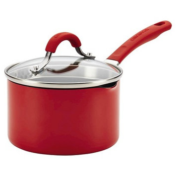 Circulon Innovatum 2 quart Covered Saucepan - Red