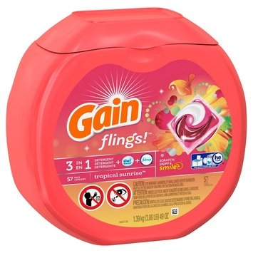 Gain Flings Tropical Sunrise Scent Laundry Detergent Pacs