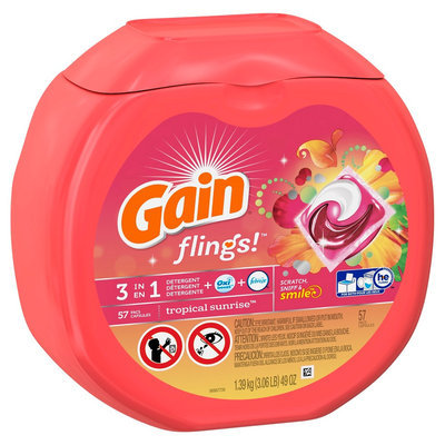Gain Flings Tropical Sunrise Scent Laundry Detergent Pacs