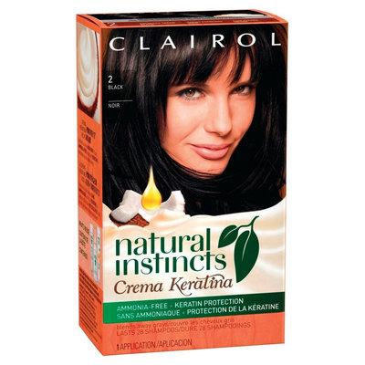 Natural Instincts Crema Keratina Hair Color - 2 Black Kit