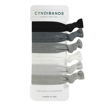 Cyndibands CyndiBands Set of 6 Hair Ties, Greys, 1 ea