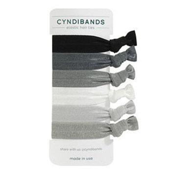 Cyndibands CyndiBands Set of 6 Hair Ties, Greys, 1 ea
