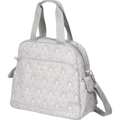 The Bumble Collection Brittany Diaper Backpack - Blue Filigree
