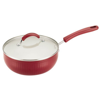 Farberware Nt Farberware New Traditions 3.5 qt Covered Chef Pan - Red Scallop