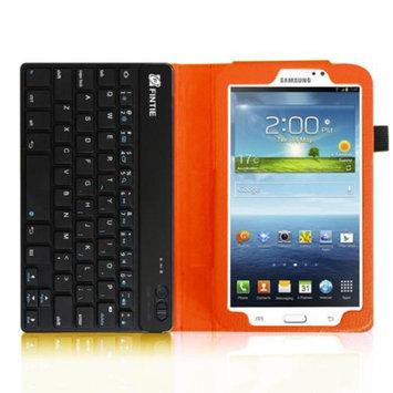 Fintie Folio Key Wireless Bluetooth Keyboard Case Cover for Samsung Galaxy Tab 3 7.0 inch Tablet, Orange