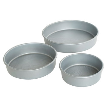 Threshold 3pc Round Cake Pan Set 8-10-12