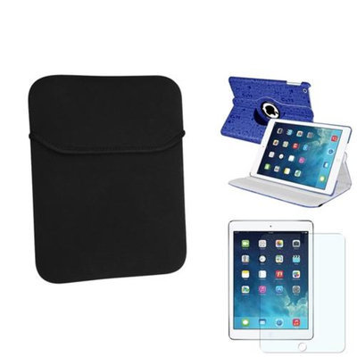 Insten INSTEN Blue Cute 360 Leather Case Cover+Matte Protector/Sleeve For Apple iPad Air 5 5th Gen