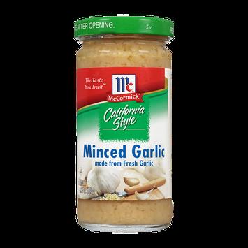 McCormick® California Style Minced Garlic made from Fresh Garlic
