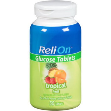 Wal-mart Store, Inc. ReliOn(tm) Tropical Fruit Glucose Tablets, 50 count
