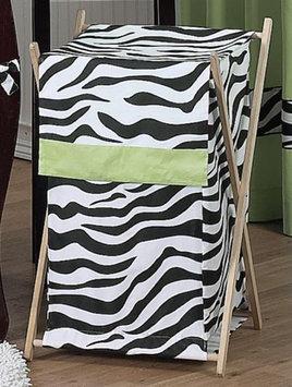 Sweet Jojo Designs Funky Zebra Laundry Hamper in Lime