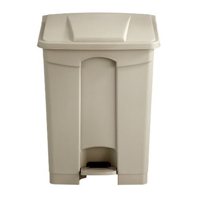 Safco Products Plastic Step-On Waste Receptacle, 17 Gallon, Tan, 9922TN