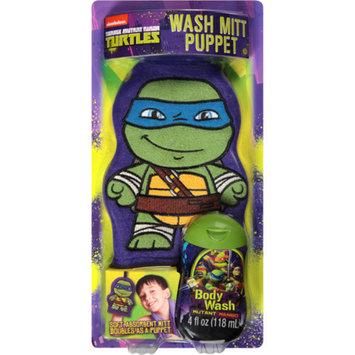 TMNT-NICKLODEON Teenage Mutant Ninja Turtles Wash Mitt Puppet & Body Wash, 2 pc