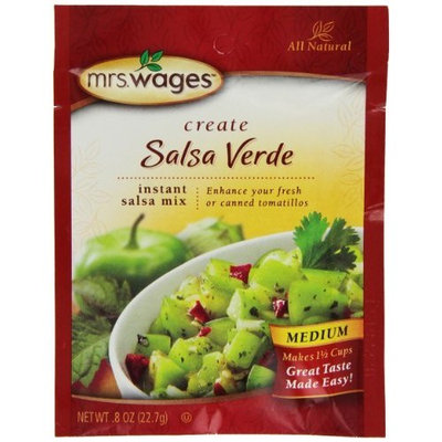 Mrs Wages Mrs. Wages Salsa Verde Salsa Mix, .8-Ounce Pouches (Pack of 12)