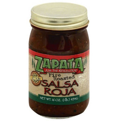 Zapata Fire Roasted Medium Salsa Roja, 16 oz, (Pack of 12)