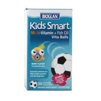 BioGlan Kids Smart Multivitamin + Fish Oil, Berry, 30 ea