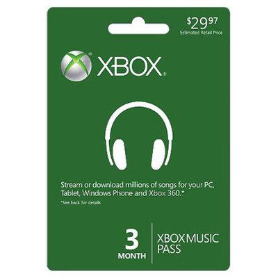 Microsoft Xbox Music Pass 3 Month Pre-Paid Card - $29.97