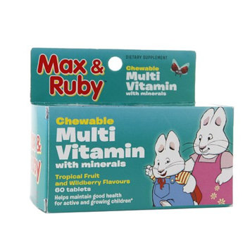 Treehouse Max & Ruby Chewable Multivitamin, Tablets, Tropical Fruit & Wildberry, 60 ea