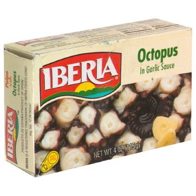 Iberia Octopus In Garlic Sauce, 4-Ounce (Pack of 25)