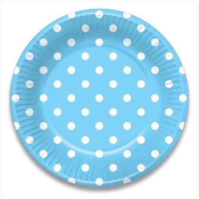 LolliZ 9 Paper Plates. Blue/ Polka Dots, 12-Pcs
