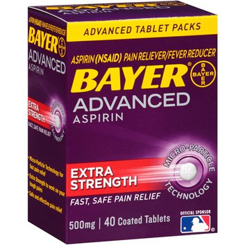 Bayer Advanced Aspirin Extra Strength Pain Reliever/Fever Reducer Coated Tablets