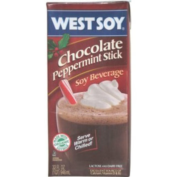West Soy Westsoy Chocolate Peppermint Stick Soy Beverage, 32 oz. Aseptic Package