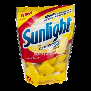 Sunlight with Lemon Oxi Complex Dishwasher Detergent Power Pacs - 20 CT