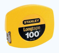 Stanley Bostitch Long Tape Measure, 1/8 Graduations, 100ft, Yellow