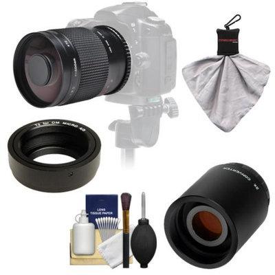Samyang 500mm f/8.0 Mirror Lens with 2x Teleconverter (=1000mm) for Olympus OM-D EM-5, Pen E-P2, E-P3, E-PL2, E-PL3, E-PM1 & Panasonic Micro 4/3 Digital Cameras