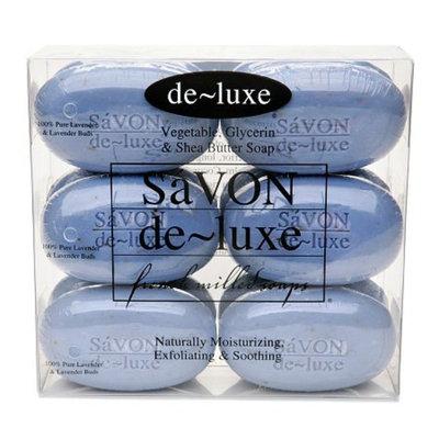 de-luxe SaVON Bar Soap Set Pure Lavender