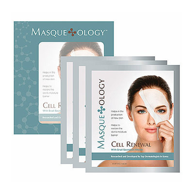 Masque*ology Cell Renewal Masque With Snail Secretion Filtrate 3 Masks x 1.06 oz