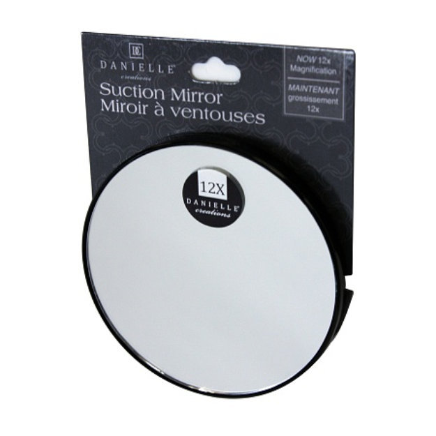 Danielle Mini Suction Mirror with 12X Magnification